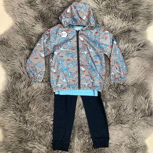 Pekkle   Boy's 3 Piece Set   Grey & Blue   Jacket